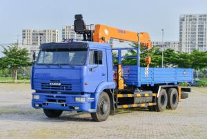 Xe Tải Cẩu Kamaz 65117 (6x4) Cẩu 7 Tấn Dinex