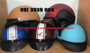 Mũ bảo hiểm quà tặng các loại, đặt in mũ bảo hiểm công ty, in nón bảo hiểm nhanh , giá rẻ