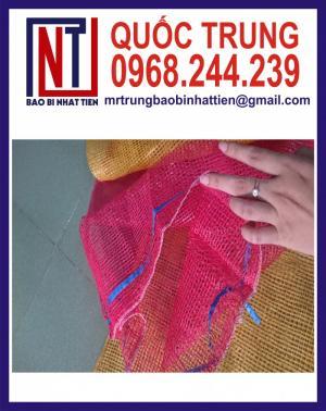 Chuyên dệt bao lưới leno các màu xanh đỏ tím vàng