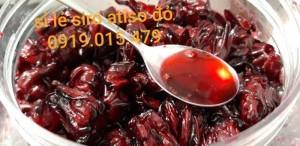 Siro atiso đỏ(bụp giấm) handmade