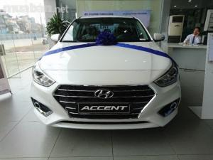 Hyundai Accent 2018 AT Full Trắng, Giao Xe...