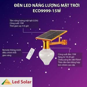 Đèn cảm ứng năng lượng mặt trời - sang trọng, đẳng cấp