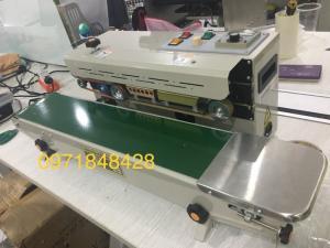 Máy hàn mép túi liên tục FR900, máy hàn mép túi bạc, máy hàn mép túi nhôm