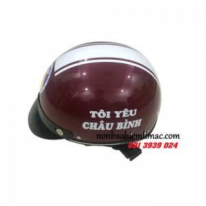 Mũ bảo hiểm quảng cáo đẹp - mũ bảo hiểm quà tặng in logo , xưởng chuyên mũ bảo hiểm