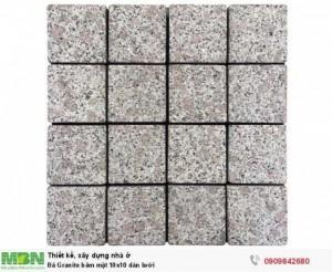 Đá Granite băm mặt 10x10 dán lưới, 400x400x18mm