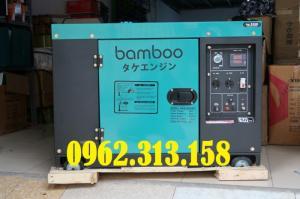 Máy phát điện chạy dầu 7kw Bamboo 8800ET công nghệ Nhật cho hộ gia đình
