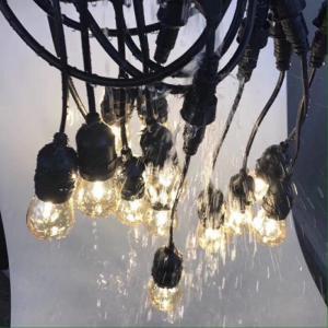 Dây đèn ngoài trời E27-10m-20 đuôi, giá sỉ 320k