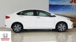 Xe Honda City đời 2019 mới 100% màu Trắng, Tặng 20 triệu, Trả trước 150 triệu nhận xe