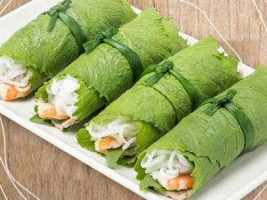 Cuốn diếp - Hue Salad Rolls Wrapped in Mustard Leaves