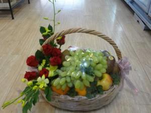 Giỏ trái cây và hoa giả - FSNK02
