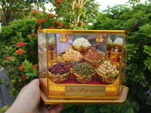 Hộp ngũ đâu may mắn- bát ăn bát để trang trí bàn thần tài, bàn thờ- hộp ngũ cốc phong thủy