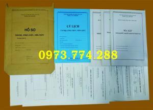 Tìm mua bộ hồ sơ cán bộ công chức, viên chức,...