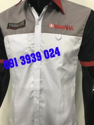 Đồng phục trắng xanh honda, đồng phục trưởng honda, đồng phục sữa chữa xe máy