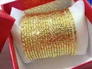 Ximen nữ mạ vàng 18k có khoá bộ 7 chiếc