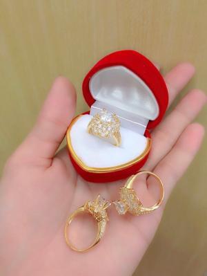 Nhẫn nữ mạ vàng 18k