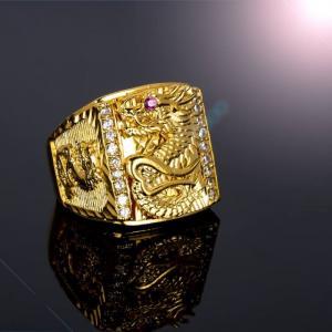 Nhẫn thiên long mạ vàng cao cấp
