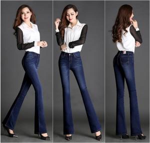 Quần jean lưng cao ống loe đẹp (QD163)