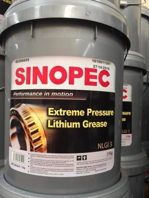 Mỡ Sinopec EP Lithium Grease NLGI 3 xô 17Kg