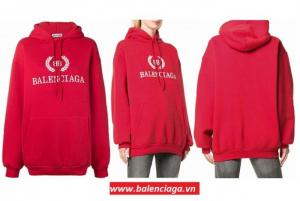 Áo khoác nữ Balenciaga BB blend hooded sweatshirt