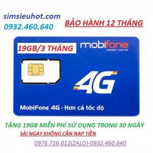 Sim Mobifone 4G F90 tặng ngay 19G sử dụng miễn phí trong 3 tháng