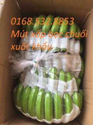 mút xốp pe foam đục lỗ bọc hàng trái cây chuối xuất khẩu, xoài xuất khẩu