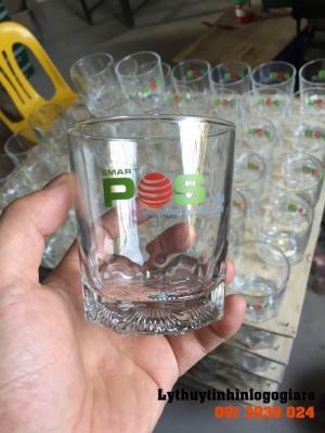 Đặt ly thủy tinh lùn in logo làm quà tặng khách hàng