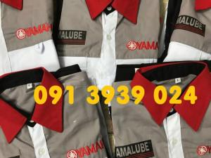 Áo quần thợ Yamaha, đồ thợ Yamaha đỏ đen- sỉ lẻ đp Yamaha giá rẻ