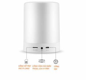 Loa Bluetooth Cao cấp hiển thị giờ kiêm đèn ngủ PKCB 66 Plus cho điện thoại laptop máy tính