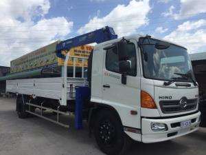 Xe tải gắn cẩu Hino FG8JPSL 8 Tấn gắn cẩu Tadano 3 tấn, trả trước 300 triệu giao luôn xe