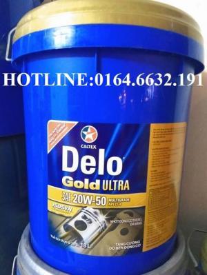 Dầu nhớt Mỹ Caltex Delo Gold Ultra API CI-4 xô 18L