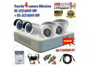 Combo 4 camera giám sát HIKVISON