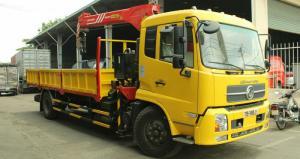 Xe tải Dongfeng B170 tải trọng 8.2 tấn, gắn cẩu Unic 3 tấn, trả trước 100 triệu, giao luôn xe