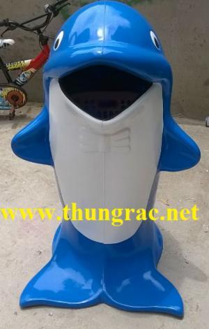 Giảm giá thùng rác hình cá chép - thùng rác chim cánh cụt