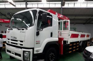 Giá xe tải gắn cẩu Isuzu FRR90N tải trọng 5 tấn, gắn cẩu unic 3 tấn, trả trước 200 triệu giao luôn xe