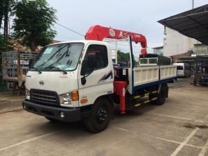 Giá xe tải gắn cẩu Hyundai HD800 gắn cẩu unic 3 tấn, trả trước 250 triệu, giao luôn xe