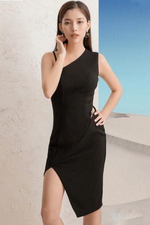 Đầm body lệch vai xẻ tà (DB2411)