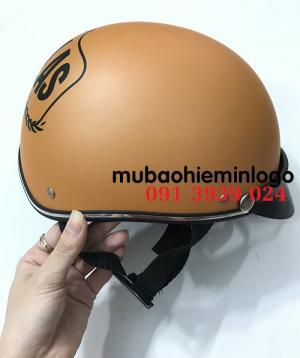 In nón bảo hiểm, công ty làm nón bảo hiểm  in logo theo yêu cầu
