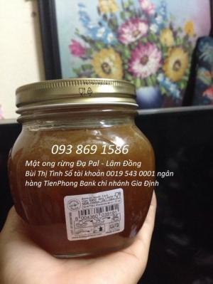 Mật ong rừng nguyên chất mật ong rừng Đạ Pal Lâm Đồng tự nhiên 100% 500ml