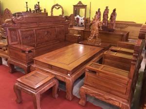 Bộ bàn ghế gỗ hương đá kiểu Minh Quốc