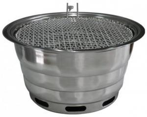 Bếp nướng than hoa hàn Quốc hút dương đặt âm bàn kèm vỉ nướng inox 304 cao cấp