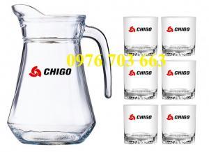 Chuyên cung cấp bộ ly bình thủy tinh in logo giá rẻ