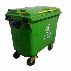 Phân phối bán thùng rác công cộng  660L nhựa HDPE