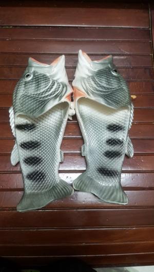Dép cá đi biển màu xám bạc