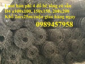 Xưởng sản xuất lưới thép đổ bê tông, lưới thép hàn chập, lưới thép hàn, lưới làm hàng rào phi 3, phi 4
