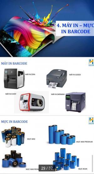In ấn tem nhãn, decal cuộn, mực in barcode
