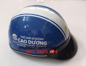 Báo giá in nón bảo hiểm cửa hàng điện thoại di động