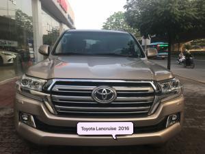 Bán Toyota Land Cruise 4.6 ,sản xuất và đăng ký cuối 2016,màu vàng,nội thất kem,xe siêu mới,biển Hà Nội
