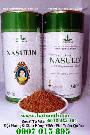 Thảo dược Methi Nasulin trị tiểu đường, mỡ máu mua ở đâu