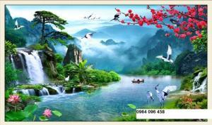 tranh phong cảnh 3d - gạch tranh 3d
