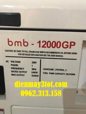 Máy phát điện chạy xăng 10kw Bamboo 12000GP siêu chống ồn công nghệ 100% Nhật Bản